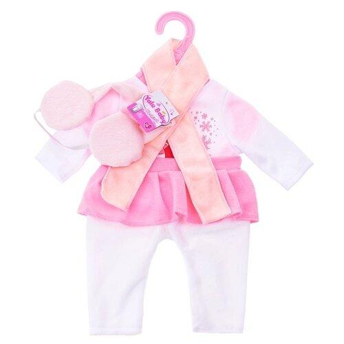 цена Junfa toys Комплект одежды и аксессуаров для кукол Baby Love BLC01 розовый онлайн в 2017 году