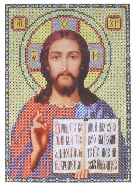 Канва для вышивания с рисунком NOVA SLOBODA Спаситель БИС-9032 19 х 27 см