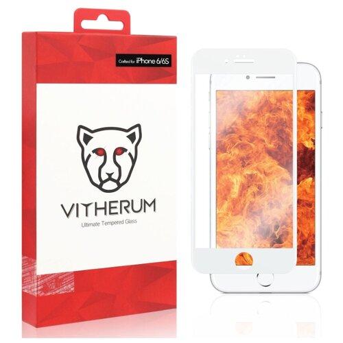 Защитное стекло Vitherum RUBY Ultimate Resistance Tempered Glass для 6/6S белый
