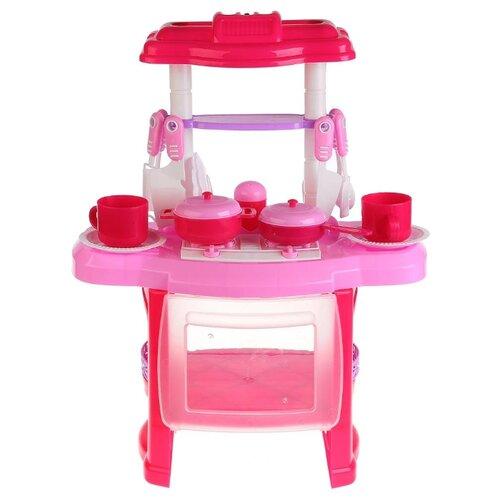 Купить Кухня Играем вместе Маша и Медведь B1407619-R розовый, Детские кухни и бытовая техника