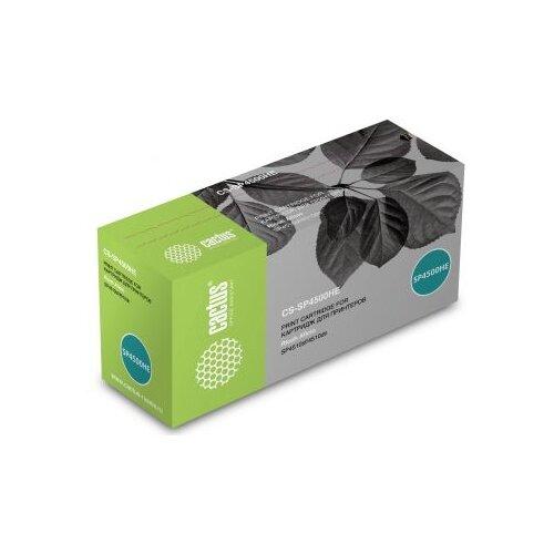 Фото - Картридж лазерный Cactus CS-SP4500HE черный (12000стр.) для Ricoh Aficio SP 4510DN/SP 4510SF картридж nvp совместимый nv sp4500he для ricoh aficio sp 4510dn 4510sf 12000k