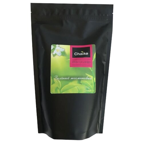 Чай зеленый Chaiko жасминовый , 200 г сад дань чай травяной чай жасминовый чай жасминовый чай типпи 100г мешок