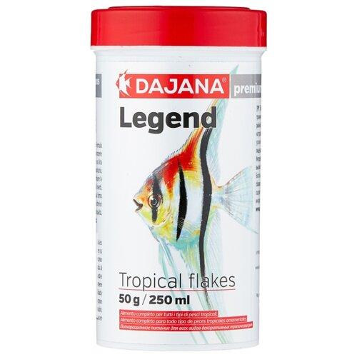 Сухой корм для рыб Dajana Pet Legend Tropical Flakes 250 мл 50 г сухой корм для рыб dajana pet malawi flakes 1000 мл 200 г