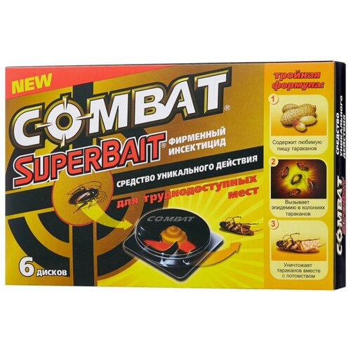 цена Ловушка Combat SuperBait от тараканов (6 шт.) онлайн в 2017 году