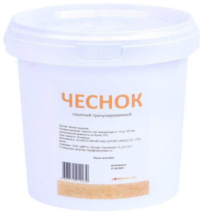 Купить Чеснок сушеный гранулированный в ведре (650 г) HOBBYHELPER по низкой цене с доставкой из Яндекс.Маркета (бывший Беру)