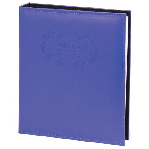 Фотоальбом BRAUBERG под гладкую кожу (391124/390492), 120 фото, для формата 18 х 24, синий