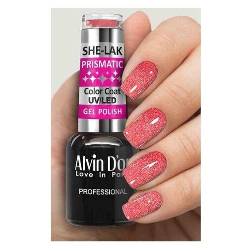 Купить Гель-лак для ногтей Alvin D'or She-Lak Prismatic, 8 мл, оттенок 5811