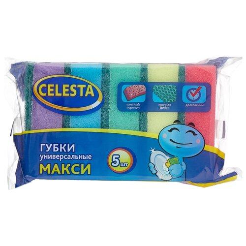Губка хозяйственная Celesta Макси 5 шт губка для мытья посуды celesta волна 5 шт