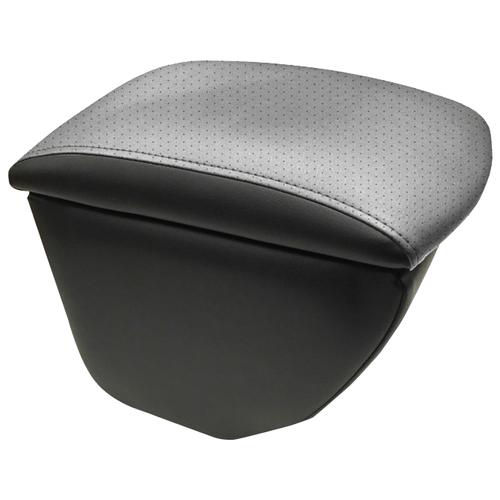 Подлокотник передний Honda Jazz 2001- экокожа Черный-серый подлокотник передний honda jazz 2001 экокожа чёрно синий