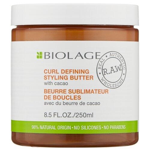 Matrix Масло Biolage R.A.W. Curl Defining Styling Butter 250 мл кремстайлинг biolage r a w для контроля над завитком 250 мл matrix biolage r a w