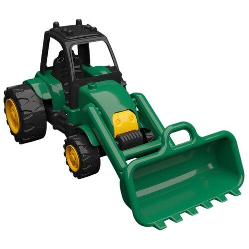 Купить Трактор Terides Т8-052 36 см черный/зеленый/желтый, Машинки и техника