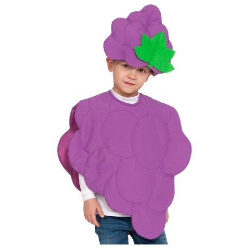 Купить Костюм КарнавалOFF Виноград 5219, фиолетовый, размер 98-128, Карнавальные костюмы