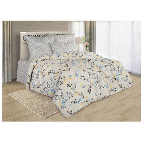 Постельное белье семейное Guten Morgen Прана 818 70х70 см, поплин серый/бежевый одеяло guten morgen поплин 140х205 см