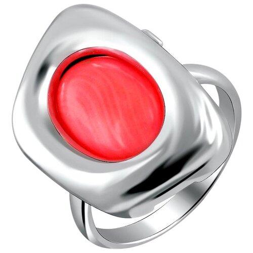 Эстет Кольцо с кошачьим глазом из серебра К3К453546АР, размер 19 фото