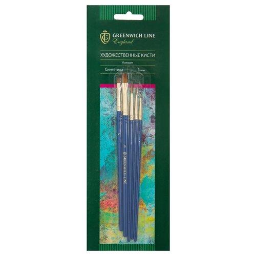 Набор кистей Greenwich Line Колорит, синтетика, короткая ручка, 5 шт. (AB_15904) ежедневник greenwich line woodstock b6 beige enb6cr 11265 247993