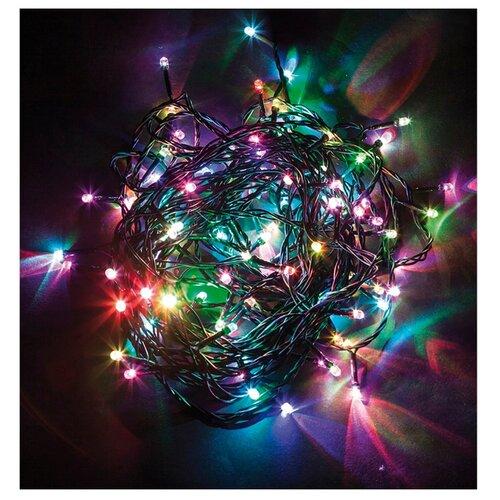Гирлянда Feron Нить CL93 500 см, 750 ламп, разноцветный/зеленый провод