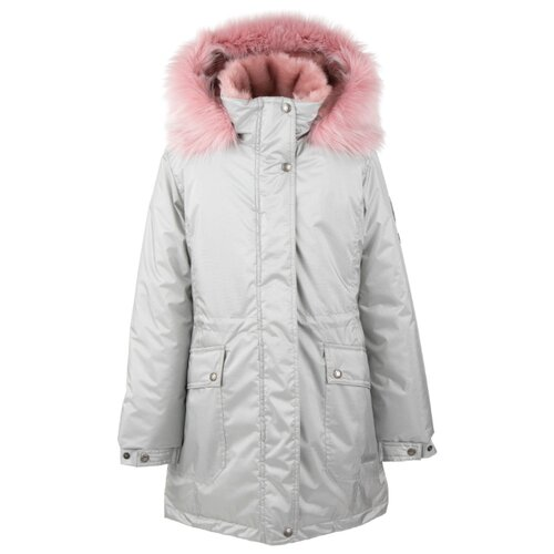 Фото - Парка KERRY Elly K20671 A размер 152, 00255 светло-серый куртка kerry wolfie k19439 a размер 116 9890 серый