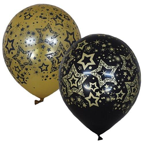 Набор воздушных шаров Поиск Голливуд (25 шт.) black/gold