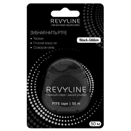 Revyline зубная нить PTFE Black Edition вощеная мятная  - Купить