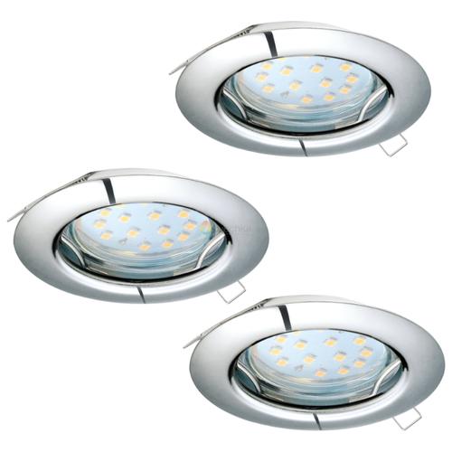 Встраиваемый светильник Eglo Peneto 94236, 3 шт. встраиваемый светодиодный светильник eglo peneto 1 95899