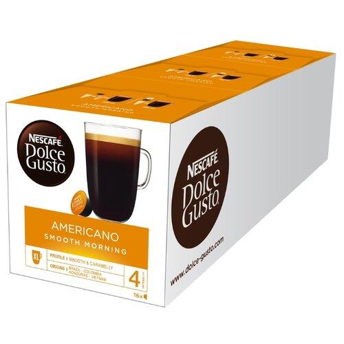 Кофе в капсулах Nescafe Dolce Gusto Americano Smooth Morning (48 капс.), без кофеина кофе в капсулах nescafe dolce gusto mexico americano 12 капс