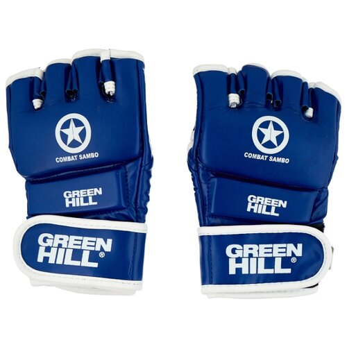 Перчатки Green hill COMBAT SAMBO MMR-0027CS для MMA синий M