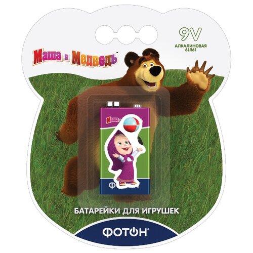 Фото - Батарейка ФОТОН 9V/6LR61 Маша и медведь + наклейка 1 шт блистер наклейка