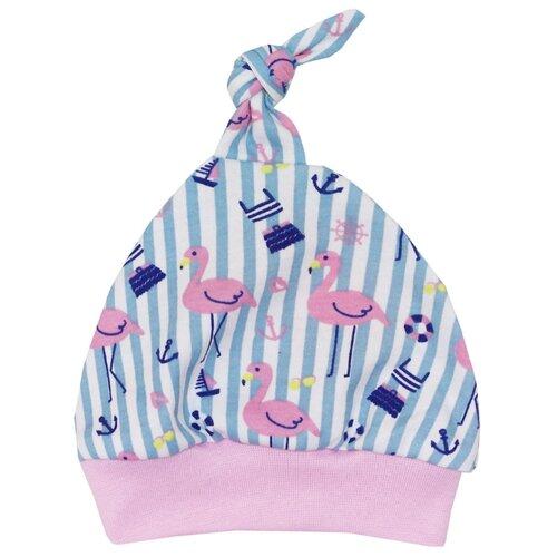 Купить Шапка KotMarKot размер 48, белый/розовый/голубой, Головные уборы