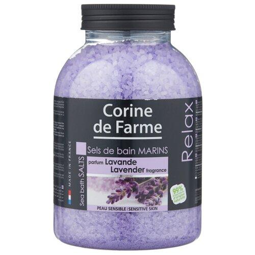 CORINE de FARME Морская соль для ванн Relax Лаванда 1300 г шампунь corine de farme купить