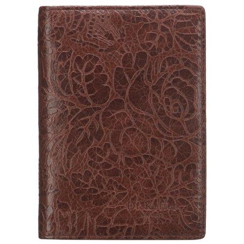 """Обложка для автодокументов Dr.Koffer """"Дубовые листья"""" X510177-212-09, коричневый"""
