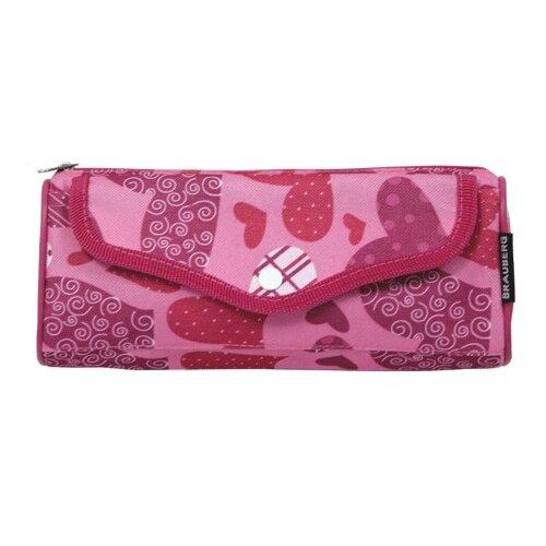 Купить BRAUBERG Пенал-косметичка Каприз (223904) розовый, Пеналы
