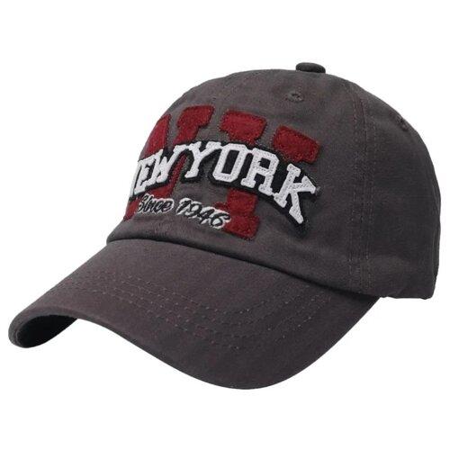 Купить Бейсболка Be Snazzy размер 54-56, темно-серый, Головные уборы