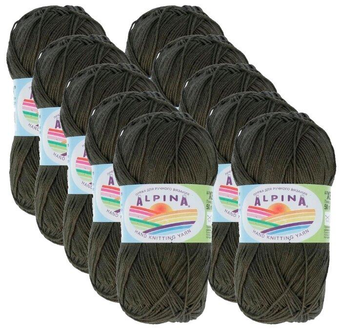 Купить Пряжа Alpina Xenia, 100 % хлопок, 50 г, 240 м, 10 шт., №514 т.оливковый по низкой цене с доставкой из Яндекс.Маркета (бывший Беру)