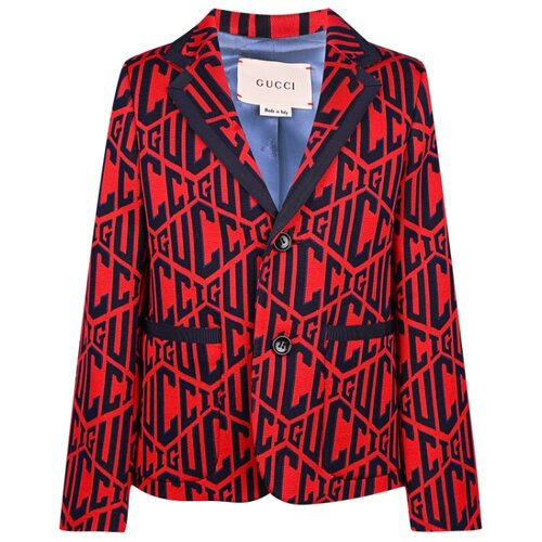Пиджак GUCCI размер 104, красный туника gucci размер 104 красный