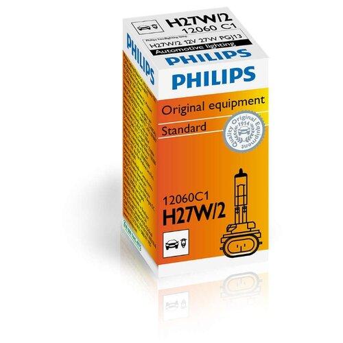 Фото - Лампа автомобильная галогенная Philips Vision 12060C1 H27W/2 12V 27W лампа накаливания philips h27w 1 12v 27w 1шт 12059c1