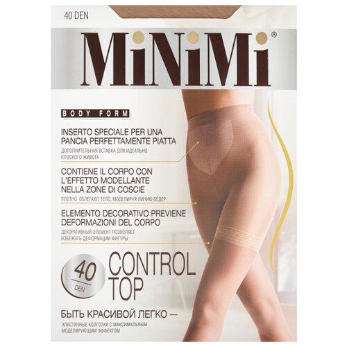 Колготки MiNiMi Control Top 40 den, размер 2-S/M, caramello (бежевый) колготки minimi slim control 20 den размер 3 m caramello бежевый