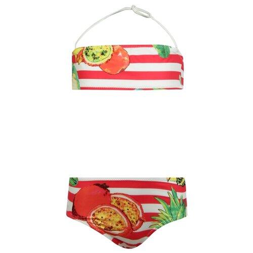 Купить Купальник Stella Jean размер 140, белый/красный, Белье и купальники