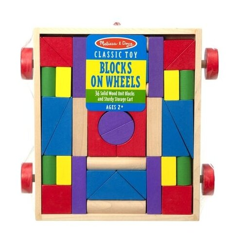 Кубики Melissa & Doug Unit Blocks on Wheels