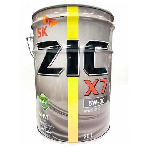 Моторное масло ZIC X7 DIESEL 5W-30 20 л моторное масло zic x7 ls 5w 30 4 л