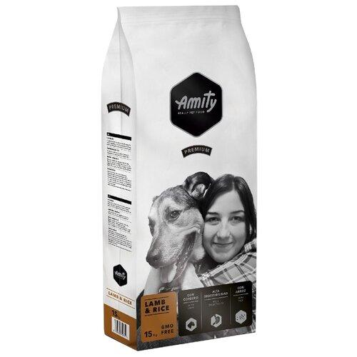 Сухой корм для собак Amity ягненок с рисом 15 кг