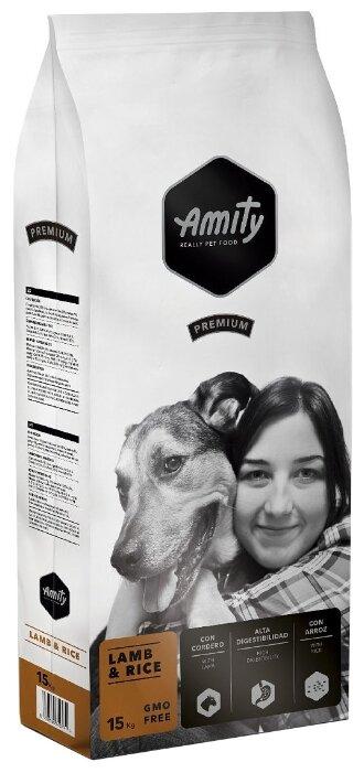 Корм для собак Amity ягненок с рисом