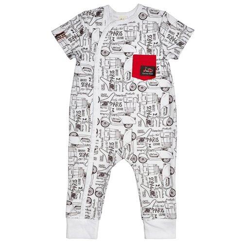 Комбинезон lucky child размер 20 (62-68), черный/белый/красный платье oodji ultra цвет красный белый 14001071 13 46148 4512s размер xs 42 170