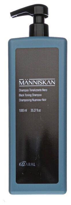 Купить Kaaral шампунь Manniscan Black Toning черный тонирующий, 1 л по низкой цене с доставкой из Яндекс.Маркета