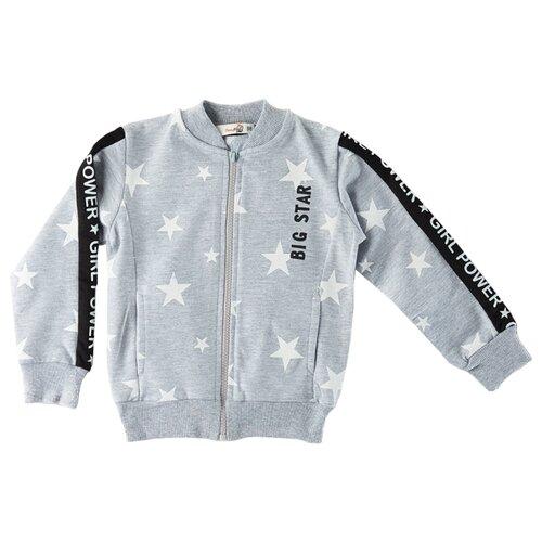 Купить Олимпийка Roxy Foxy размер 110, серый меланж, Толстовки