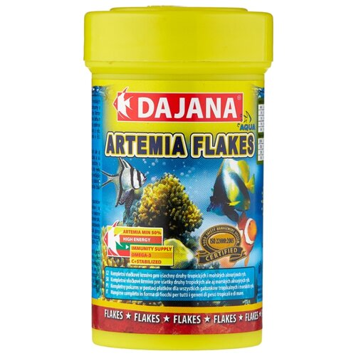 Сухой корм для рыб Dajana Pet Artemia flakes 100 мл сухой корм для рыб dajana pet malawi flakes 1000 мл 200 г