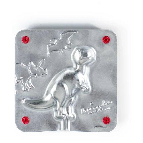 Форма для мороженого Леденцовая фабрика Динозавр (0058) серебристый