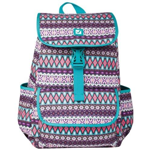 BRAUBERG рюкзак Ромб (226358), бирюзовый/фиолетовый рюкзак brauberg 227073