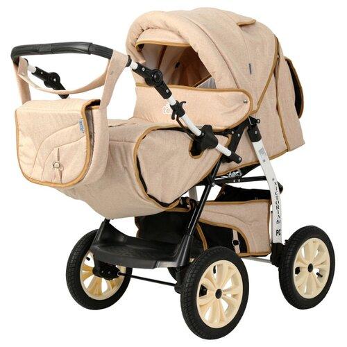 коляска 2 в 1 teddy bartplast angelina pkl 2016 ro02 бежевый Коляска-трансформер Teddy Victoria Prime PKL бежевый лён