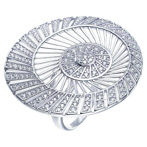 JV Кольцо с фианитами из серебра DM2463R-KO-001-WG, размер 18 jv кольцо с фианитами из серебра dm2077r 001 wg размер 18