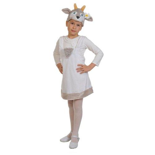 Купить Костюм КарнавалOFF Козочка плюш (3048), белый, размер 92-122, Карнавальные костюмы